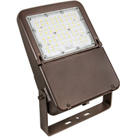 LED Flood Light - 70 Watt - 10,558 Lumens - 3000, 4000, or 5000 Kelvin Color Selectable - Replaces 175W Metal Halide - Yoke Mount - 120-277 Volt - Halco 10346