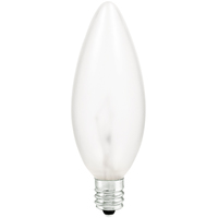 Shatter Resistant - B10 Incandescent Light Bulb - 25 Watt - Silicone Coating - Candelabra Brass Base - 130 Volt - PLT TC-25B10C130V