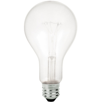 Shatter Resistant - 150 Watt - PS25 Light Bulb - Medium Brass Base - 125/130 Volt - PLT TC-0150PS25