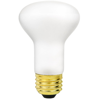 Shatter Resistant - 45 Watt - R20 Incandescent Light Bulb - Frosted - Medium Base - 130 Volt - PLT 45R20/FL/130V