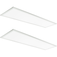 1 x 4  LED Panel - 23, 29, or 38 Watts - 4200 Lumens - 3500 Kelvin - Wattage Selectable Fixture - 120-277 Volt - Emergency Backup - 2 Pack - TCP FP1UZD3835KEB