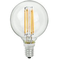 2.05 in. Dia. - LED Globe - 4 Watt - 40 Watt Equal - 380 Lumens - 2700 Kelvin - Incandescent Match - Candelabra Base - 120 Volt - PLT-11158