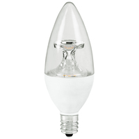 LED Chandelier Bulb - 5 Watt - 40 Watt Equal - Incandescent Match - 300 Lumens - 2700 Kelvin - Clear - Candelabra Base - 120 Volt - TCP LED5E12B1127K
