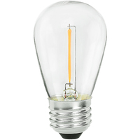 LED S14 Bulb - 1 Watt - 10 Watt Equal - 55 Lumens - 2700 Kelvin - Incandescent Match - 120 Volt - Green Creative 98457