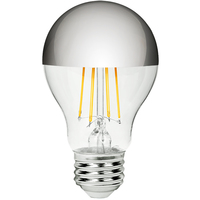 LED A19 Silver Bowl - 7.5 Watt - 60 Watt Equal - 680 Lumens - 2700 Kelvin - Incandescent Match - 120 Volt - Green Creative 98358