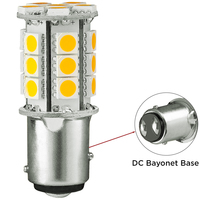 1157 - 3W Double Contact BAY15d - LED - 228 Lumens - 15W Halogen Equal - 2500 Kelvin - Warm White - 12 Volt DC Only