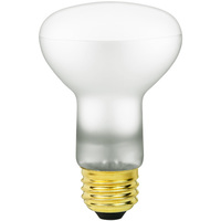 Shatter Resistant - 50 Watt - R20 Long Neck Incandescent Light Bulb - Medium Brass Base - 120 Volt - Satco S4886