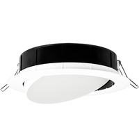 3 Fixtures in 1 - 6 in. LED Wafer Gimbal - Color Selectable 2700K, 3000K, or 3500K - 12 Watt - 977 Lumens - Replaces 75 Watt Incandescent - 120 Volt - Lithonia WF6 ADJ
