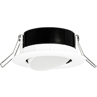 3 in. LED Wafer Gimbal - 7.6 Watt - 50 Watt Incandescent Equal - 550 Lumens - 4000 Kelvin - Round - White Trim - Dimmable - 120V - Lithonia WF3 ADJ
