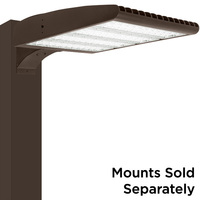 LED Parking Lot Fixture - Type V - 300 Watt - 40,500 Lumens - 5000 Kelvin Replaces 750W MH - Grandview Series Mounting Hardware Sold Separately - 200-480 Volt - PLT-11563
