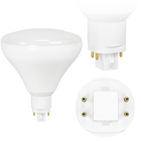 LED PL BR40 - 4 Pin G24q or GX24q  Base - 19 Watt - 2400 Lumens Replaces 26W-42W CFL - Plug and Play - 120-277V - TCP L19PLVD5030K