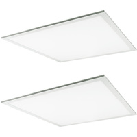 2 x 2 LED Panel - 23, 29, 38 or Watt - 4200 Lumens - 5000 Kelvin - Wattage Selectable Fixture - 120-277 Volt - 2 Pack - TCP DTF2UZDB150K