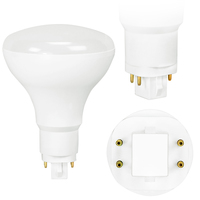LED PL BR30 - 4 Pin G24q or GX24q Base -  9 Watt - 1050 Lumens - 2700 Kelvin Replaces 13W-18W CFL - Plug and Play - 120-277 Volt - TCP L9PLVD5027K