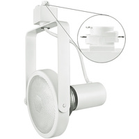 Nora NTH-108W - Gimbal Ring Track Fixture - White - Operates 150 Watt PAR38 - Halo Track Compatible - 120 Volt