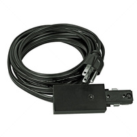 Nora NT-321B - Cord and Plug Set - Black - Single Circuit - Compatible with Halo Track