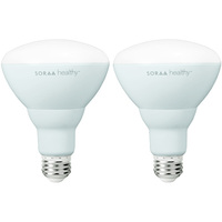 635 Lumens - LED BR30 - 15 Watt - 50W Equal - 2700 Kelvin - Soraa Healthy with ZeroBlue Technology - Dimmable - 120 Volt - 2 Pack - Soraa 09984