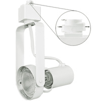 Nora NTH-146W - Gimbal Ring Track Fixture - White - Operates 50 Watt PAR20 - Halo Track Compatible - 120 Volt