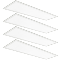 1 x 4 Edge-Lit LED Panel - 25, 30, or 40 Watt - 4000 Lumens - 3500, 4000, or 5000 Kelvin - Wattage and Color Selectable Fixture - 120-277 Volt - 4 Pack - Halco 10330