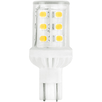 LED - 194 Indicator Bulb - 2 Watt - Miniature Wedge Base - 2700 Kelvin - Incandescent Match - 270 Lumens - 30 Watt Equal - 12 Volt DC - PLT-11699