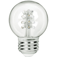 2 in. Dia. - LED G16 Globe - 0.7 Watt - 15 Watt Equal - Full Spectrum Daylight White - 6500K - Medium Base - 120 Volt - PLT LEDGG50WH
