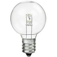 1.5 in. Dia. - LED G12 Globe - 0.4 Watt - 7 Watt Equal - Incandescent Match - 25 Pack - 2700K - Candelabra Base - 132 Volt - LEDGG4012WW