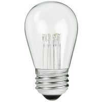 LED S14 Bulb - 1 Watt - 11 Watt Equal - 60 Lumens - 2700 Kelvin - Incandescent Match - Clear - 120 Volt - PLT LED-BK-S14-1-120-V