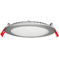 860 Lumens - 6 in. Ultra Thin LED Downlight - 13 Watt - 65 Watt Incandescent Equal - 4000 Kelvin - Round - Brushed Nickel Trim - Dimmable - 120 Volt - Lithonia WF6