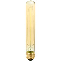 30 Watt - Vintage Antique Light Bulb - T9 Tubular Style - 7.4 in. Height - Medium Base - Hairpin Tungsten Filament - Tinted