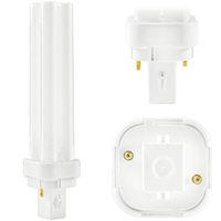 PL-C 18W/827/2P/ALTO - 2 Pin G24d-2 Base - 2700 Kelvin - 18 Watt - CFL - Philips 38316-6