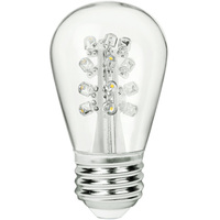 LED S14 Bulb - 0.7 Watt - 15 Watt Equal - 85 Lumens - 6500 Kelvin -  Full Spectrum - Clear - 120 Volt - PLT LEDGS14WH