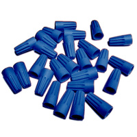 Blue Wire Connector - 100 Pack - 22-16 Gauge