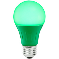Green - LED - A19 Party Bulb - 3 Watt - 25W Equal - Medium Base