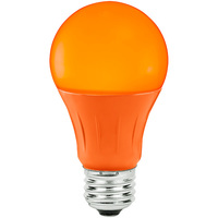 Orange - LED - A19 Party Bulb - 3 Watt - 25W Equal - Medium Base