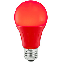 Red - LED - A19 Party Bulb - 3 Watt - 25W Equal - Medium Base
