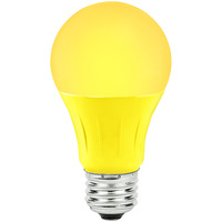 Yellow - LED - A19 Party Bulb - 3 Watt - 25W Equal - Medium Base