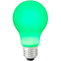 LED A19 Party Bulb - Green - 1 Watt - 10W Equal - 120 Volt - PLT LED-A19-GREEN