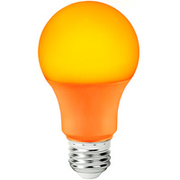 LED A19 Party Bulb - Orange - 9 Watt - 60 Watt Equal - 120 Volt - PLT-11759