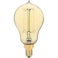 Victorian Bulb - 25 Watt - 3.75 in. Length - Multiple Supports - Candelabra Base - Tinted Glass Finish - PLT ALB25WA15CBCL