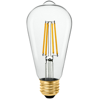 LED Edison Bulb - 7 Watt - 75 Watt Equal - 800 Lumens - 2700 Kelvin - Incandescent Match - 120 Volt - Euri Lighting - VST19-3020e