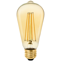 LED Edison Bulb - 6 Watt - 60 Watt Equal - 500 Lumens - 2200 Kelvin - Color Matched for Candle Glow - 120 Volt - Euri Lighting - VST19-3020ea