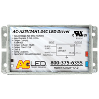 LED Driver - Operates 3-25 Watts Input 120-277V - Works With 24V Output Constant Voltage Products Only