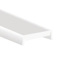 3.28 ft. - Frosted - HS Lens Cover - Designed for PDS4-ALU, PDS4-K, PDS-O, PDS-MDF, PAC-MDF, MICRO-ALU, MICRO-K, 45-ALU, 45-MDF, STOS-MDF Channels - Klus 1369