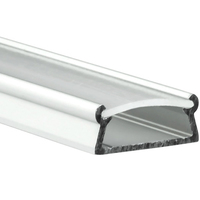 6.56 ft. Non-Anodized Aluminum TAMI Channel - For LED Tape Light and Strip Light - Frosted Lens Cover Included - Klus B5390_2