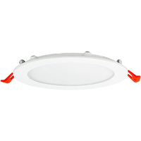 1100 Lumens - 6 in. Ultra Thin LED Downlight - 14 Watt - 75 Watt Incandescent Equal - 3500 Kelvin - Round - White Trim - Dimmable - 120 Volt - TCP DDC61D35K