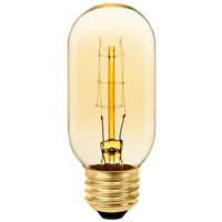 Radio Style - 30 Watt - 4.3 in. Height - Vintage Light Bulb - Amber Tinted - T14 - PLT T45 120V30W 12A