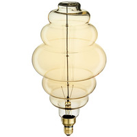 60 Watt - Vintage Light Bulb - Bee Hive Shape - 15 in. Length - Vertical Filament - Tinted