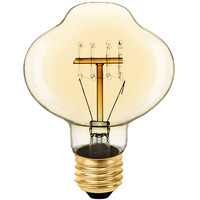 40 Watt - Vintage Light Bulb - BT27 Lantern - 4.5 in. Length - Quad Loop Filament - Tinted