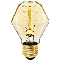 40 Watt - Vintage Light Bulb - Gem Shape - 3.75 in. Length - Spiral Filament - Tinted