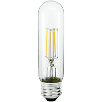 LED T10 Tubular Bulb - 4.5 Watt - 40 Watt Equal - 430 Lumens - 2700 Kelvin - Medium Base - Incandescent Match - 120 Volt - Satco S9580