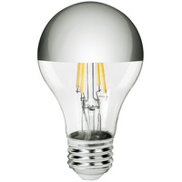 LED A19 Silver Bowl - 5 Watt - 40 Watt Equal - 400 Lumens - 2700 Kelvin - Incandescent Match - 120 Volt - Bulbrite 776671